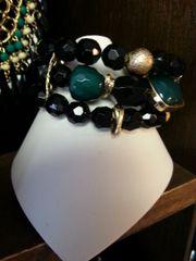 Jewelry Bracelet Black & Green