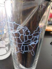 State of North Carolina Heart Pint Glass