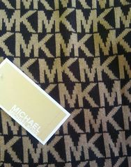 Michael Kors Cold Weather Scarf Beige and Black