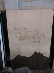 Notebook Wooden Cover Not all that wander are lost