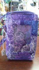 Quilted Wristlet Purple Floral