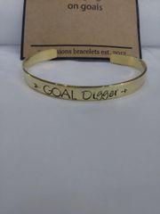 EB Goal Digger Mantra Cuff Bracelet