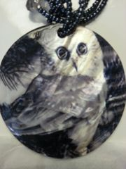 Jewelry Set Caribbean Shell Collection Black White Owl