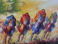 "Oil Painting ""At the Races"""