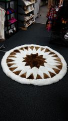 32 Point Star Alpaca Fur Skin Rug