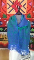 Alpaca Scarf, Blue & Green
