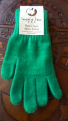 Adult size baby alpaca gloves bright green