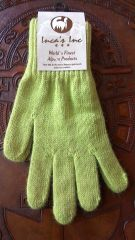 Adult Size, Baby Alpaca Gloves lime