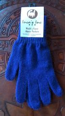Adult Size, Baby Alpaca Gloves bright blue