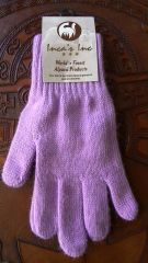 Adult Size, Baby Alpaca Gloves lavender