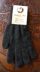 Adult size baby alpaca gloves charcoal