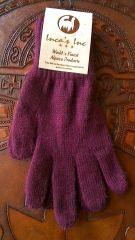 Adult Size, Baby Alpaca Gloves maroon