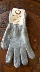 Adult Size, Baby Alpaca Gloves light grey