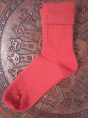Baby Alpaca Women's Socks Red