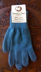 Adult Size, Baby Alpaca Gloves medium light blue