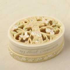 Foundations First Communion Covered Box Collectible Figurine 4036748