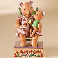 Jim Shore Heartwood Creek Bear With Loving Heart 4009906