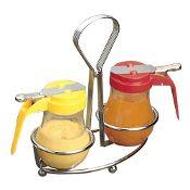 Two Ring Dispenser/Condiment Rack