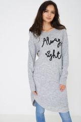 SOFT KNIT GREY JUMPER DRESS EX BRAND