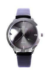 DIAMANTE DIAL BLACK WATCH