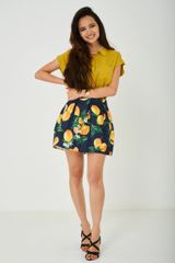 SKATER SKIRT IN LEMON PRINT