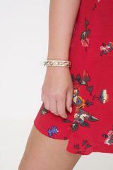 D&X Leather Infinity Chain Bracelet In Beige
