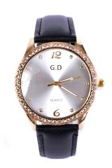 DIAMANTE EMBELLISHED WATCH IN BLACK