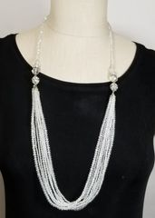 White Crystal 3-Way Necklace with Magnetic Clasps