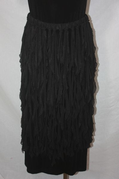 Black Flutter Skirt or Poncho