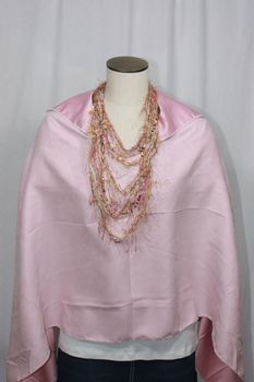 Handcrafted Pink Ultrasuede Poncho