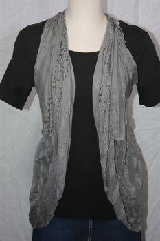 Rayon Gray Vest/Scarf