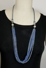 Blue Crystal 3-Way Necklace with Magnetic Clasps