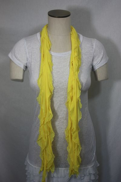 Sunshine Yellow Purple Flutter Scarf