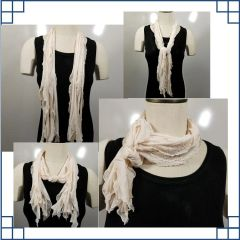 Beige with Gold Flecks Flutter Scarf