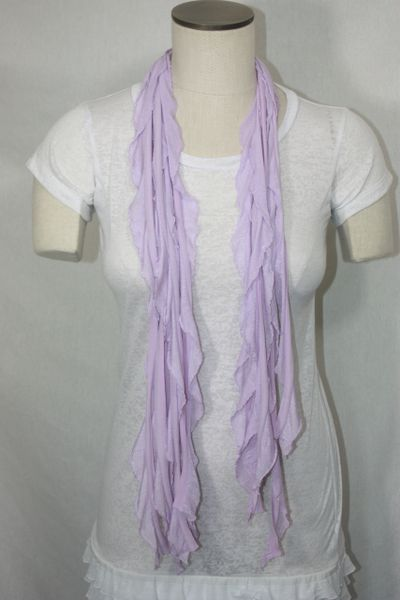 Light Lavender Purple Flutter Scarf