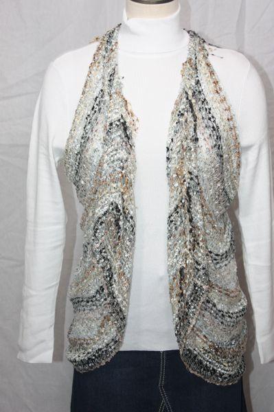 Woven Brown/Grey/Cream/Black Vest/Scarf