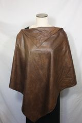 Brown Microsuede Poncho
