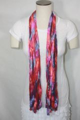 Magenta, Red and Purple Ribbon Scarf