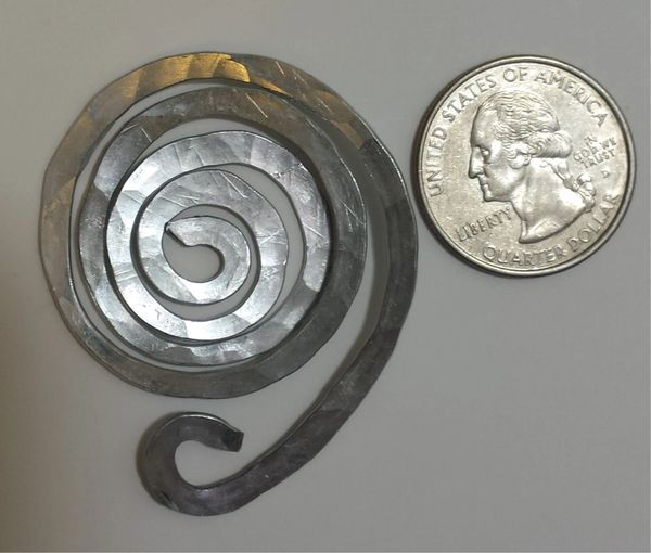 Aluminum Spiral Clasp - Scarf, Jewelry, and Clothing Accessory