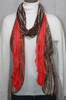 Tomato Red Flutter Scarf