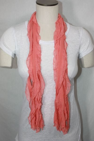 Salmon Flutter Scarf