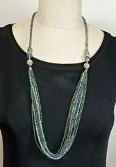 Green Iridescent Crystal 3-Way Necklace with Magnetic Clasps
