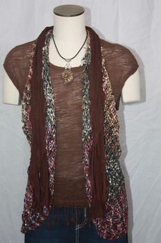 Chocolate Brown Flutter Scarf