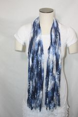 Blue and Silver Ribbon Scarf