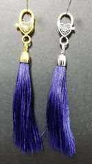 Medium Navy Blue Silk Tassels with a Lobster Claw Clasp