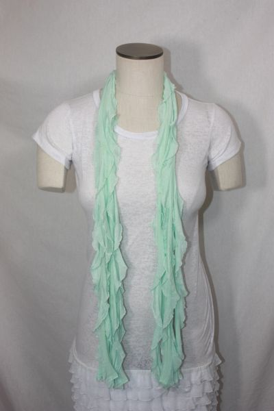 Mint Green Flutter Scarf
