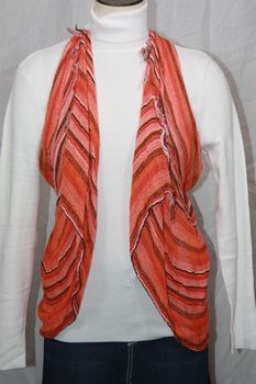 Woven Orange/Black/Pink Vest/Scarf