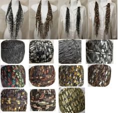 Black Gray or Brown Cascade Jewel Infinity Scarf