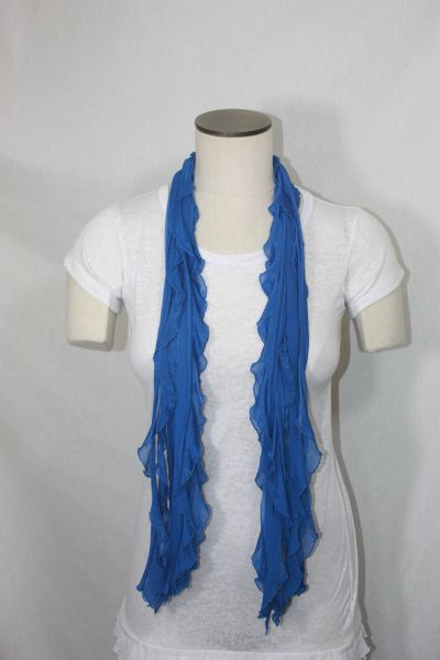 Royal Blue One Inch Flutter Scarf