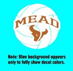 Mead Volleyball Decal